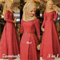 Hijab Maxi Zamirah 3in1 Red