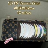 Tempat /Car CD Organizer LV BrowN PrinT