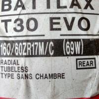 Ban Bridgestone Battlax 160/60-17 T30 EVO Sport Touring Tubeless Motor