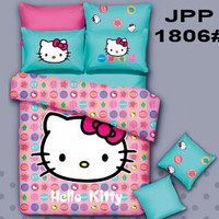 sprei hello kitty katun jepang panel 180*200*30