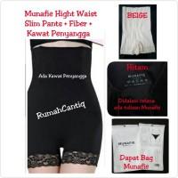 Munafie Hight Waist Slim Pants + Fiber ( ADA RENDA )