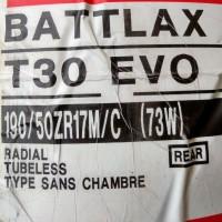 Ban Bridgestone Battlax 190/50-17 T30 EVO Sport Touring Motor Tubeless