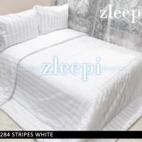 Sprei 180x200 Mini Stripes White