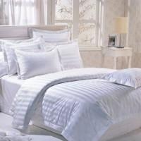 Sprei Dobby White Stripes 180x200x35 Tanpa BG CUSTOM Limited
