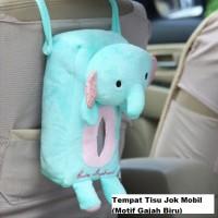 Tempat Tisu / Tissue Belakang Jok Mobil Motif Gajah Biru