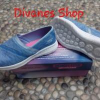 Skechers Go Walk City wrna Light Blue, Slip On (Sepatu Wanita) size 39
