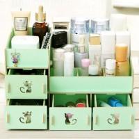 616 Rak kosmetik bahan kayu Desktop storage kitty cat