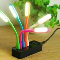 Lampu LED Sikat Gigi - Hitam (lampu baca usb)