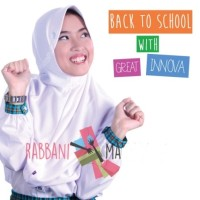 Kerudung Rabbani Great Innova ukurn M, Jilbab Bergo Anak Sekolah Grand