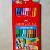 ATK0238FC 30 warna connector pen Faber Castell spidol 115051 art tools