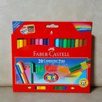 ATK0237FC 20 warna connector pen Faber-Castell spidol castell 11200A