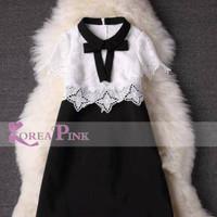 Baju Anak Branded Import Fashion Girls Dress Korea Pink Black White