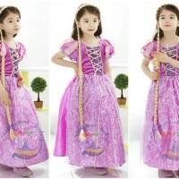 Rambut rapunzel / wig rapunzel princess panjang bando