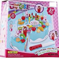 Mainan Anak Perempuan Roti Potong DIY Birthday Cake Song Play Set