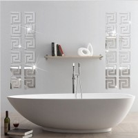 wall stiker kaca mirror Puzzle Labyrinth impor hiasan dinding cermin