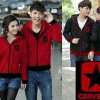 JUAL MURAH [Couple Converse Merah LO] jaket couple babyteri merah