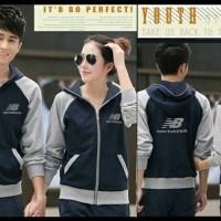 JUAL MURAH [Cp Jkt NB Navy CL] pakaian jaket pasangan cowok cewek