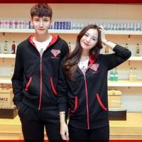 JUAL MURAH [Cp Jkt J Fashion CL] jaket couple babyterry hitam