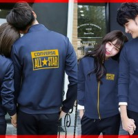 JUAL MURAH [Cp Jkt Converse CL] jaket couple babyterry navy