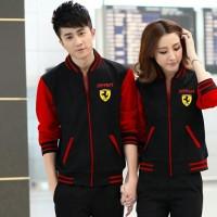 JUAL MURAH [Cp Jkt Ferrari CL] pakaian pasangan jaket cowok + cewek