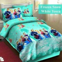 Sprei Katun FORTUNA Frozen Snow White Tosca ukuran 180x Murah