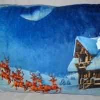 Bantal Santa Christmas Kado Hadiah Natal Photo Print Z510330SKSAA