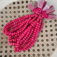 Tasbih Kayu 33 Warna Pink - 8mm
