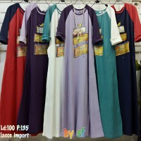 Gamis Love/Dress/Maxi/Lacoste Import