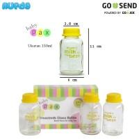Babypax Glass Breastmilk Bottle (Botol ASI Kaca) 3 x 150ml