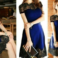 dress gesya lace navy