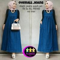 FL OVERAL JEANS (Busana muslim,kemeja,jaket,couple,dress anak,gamis)