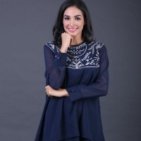 Dress Atasan Wanita Longdress Muslim Brand Garsel IMS 4261