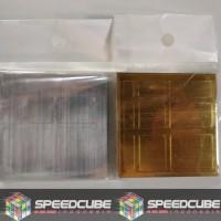 Sticker Rubik Mirror Silver/Gold | Stiker Rubik