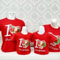 Kaos/Baju Natal I Love Christmas Couple Keluarga Ayah Ibu Anak Murah