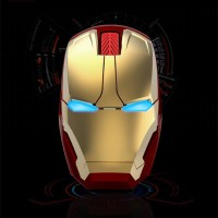 TaffWare Wireless Iron Man Gaming Optical Mouse Silent Click 2.4Gh