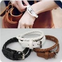 Gelang Kulit Anyam Lilit (Leather Bracelet) import korea cina