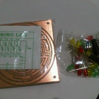 RUNNING LED SET Rangkaian Lampu Berjalan Putar Elektro Praktek Sekolah