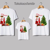 kaos santa Claus natal terbaru kids and family