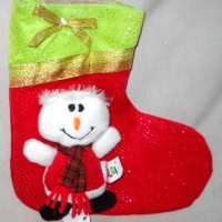 Hiasan Natal Kaos Kaki Christmas Sock Manusia Salju Imut FF530070MS