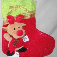 Christmas Sock Kaos Kaki Natal X-Mas List Velvet Rusa QQ530070R