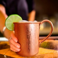 450ml Pure Copper Homestia Moscow Mule Mugs Drinkware Milk Coffee