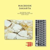 Bundling Promo - Case Macbook Marble + Keyboard Protector + Dust Plug