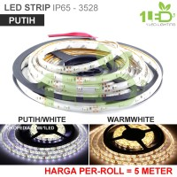 Lampu LED Strip Flexible Putih Roll 5 Meter 6W IP65 SMD 352