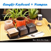 Gelas Mug Keyboard Wadah Snack Souvenir Alat Dapur Cup Kopi Coffee Teh