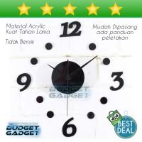 jam dinding Raksasa DIY Acrylic Wall Clock 30-50cm Diameter