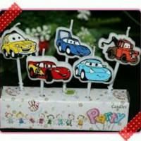 Lilin ulang tahun karakter mobil cars mc queen