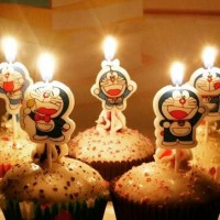 Lilin ulang tahun karakter doraemon