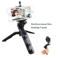 2 in 1 Portable Mini Folding Hand Monopod Stand Tripod Murah