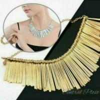 Women's Statement Tassels Choker Adjustable Chain Collar Necklace