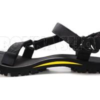 BIG SIZE! - Sandal Gunung CROP seri ROBUST - warna BLACK YELLOW